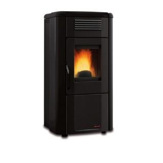 Extraflame Stufa a Pellet Canalizzata Viviana Plus Evo in acciaio e top maiolica colore nero con programmatore set 1275152 La...