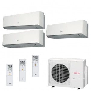 Fujitsu Condizionatore Trial Split Parete Gas R410A Serie LM 7+7+15 Btu ASYG07LMCE ASYG07LMCE ASYG14LMCE AOYG24LAT3 A++/A+
