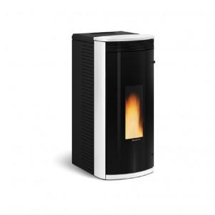 Extraflame Stufa a Pellet Sibilla con vetro nero riflettente colore bianco con telecomando e cronotermostato sett. 1280701