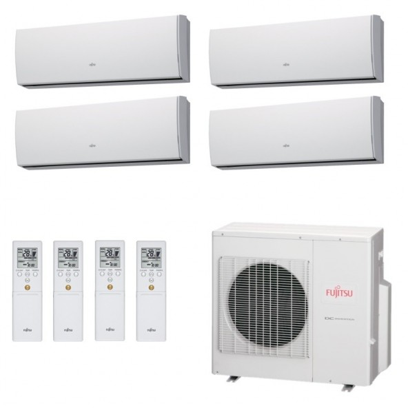 Fujitsu Condizionatore Quadri Split Parete Gas R410A Serie LU 7+7+9+15 Btu 2x ASYG07LUCA ASYG09LUCA ASYG14LUCA AOYG30LAT4 A++...
