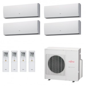 Fujitsu Condizionatore Quadri Split Parete Gas R410A Serie LU 7+7+9+15 Btu 2x ASYG07LUCA ASYG09LUCA ASYG14LUCA AOYG30LAT4 A++/A+