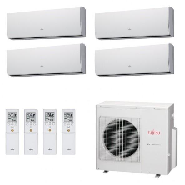 Fujitsu Condizionatore Quadri Split Parete Gas R410A Serie LU 9+9+12+12 Btu 2x ASYG09LUCA 2x ASYG12LUCA AOYG30LAT4 A+/A+ Fujitsu