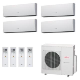 Fujitsu Condizionatore Quadri Split Parete Gas R410A Serie LU 12+12+12+12 Btu 4x ASYG12LUCA AOYG30LAT4  A+/A+ Fujitsu