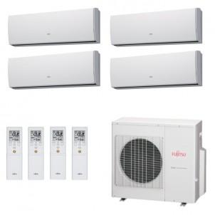 Fujitsu Condizionatore Quadri Split Parete Gas R410A Serie LU 12+12+12+12 Btu 4x ASYG12LUCA AOYG30LAT4   A+/A+