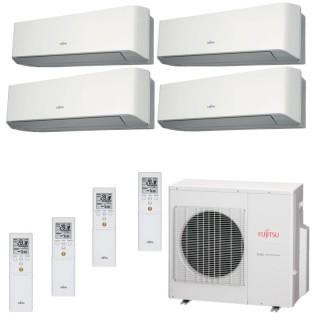 Fujitsu Condizionatore Quadri Split Parete Gas R410A Serie LM 9+9+9+15 Btu 3x ASYG09LMCE ASYG14LMCE AOYG30LAT4 A+/A+ Fujitsu