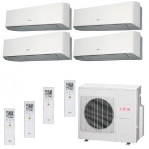 Fujitsu Condizionatore Quadri Split Parete Gas R410A Serie LM 9+9+9+15 Btu 3x ASYG09LMCE ASYG14LMCE AOYG30LAT4  A+/A+
