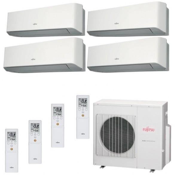 Fujitsu Condizionatore Quadri Split Parete Gas R410A Serie LM 12+12+12+12 Btu 4x ASYG12LMCE AOYG30LAT4  A+/A+ Fujitsu