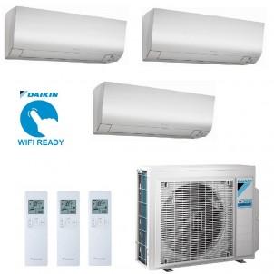 Daikin Condizionatore Trial Split Gas R-32 Perfera FTXM-M 7+7+9 Btu WiFi Opzionale 2X FTXM20M + FTXM25M 3MXM40N A+++/A++