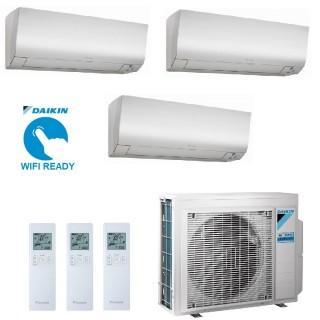 Daikin Condizionatore Trial Split Gas R-32 Perfera FTXM-M 7+9+9 Btu WiFi Opzionale FTXM20M + 2X FTXM25M 3MXM52N A+++/A++