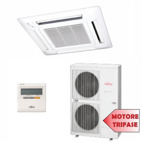 Fujitsu Condizionatore TRIFASE Mono Split Commerciale Gas R410A Cassetta Serie LR 45000 Btu AUYG45LRLAT AOYG45LATT / Fujitsu