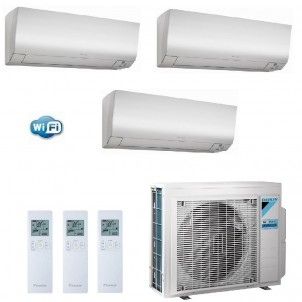 Daikin Condizionatore Trial Split Gas R-32 Perfera FTXM-N 7+7+9 Btu WiFi 2X FTXM20N + FTXM25N 3MXM40N A+++/A++