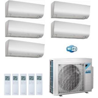 Daikin Condizionatore Penta Split Parete Gas R-32 Serie Perfera FTXM-N 9+9+9+9+9 Btu WiFi 5x FTXM25N +5MXM90M  A++/A+