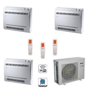 AERMEC Condizionatore Trial Split Pavimento Gas Wi-Fi R-32 Serie MLG-FS 12+12+12 Btu MLG350FS MLG350FS MLG350FS MLG840 A++/A+...