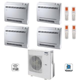 AERMEC Condizionatore Quadri Split Pavimento Gas Wi-Fi R-32 Serie MLG-FS 9+9+12+12 Btu 2x MLG250FS 2x MLG350FS MLG840 A++/A+