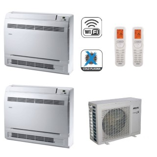 AERMEC Condizionatore Dual Split Pavimento Gas Wi-Fi R-32 Serie MLG-FS 9000+12000 Btu MLG250FS MLG350FS MLG420 A++/A+ 9+12 Ae...