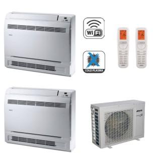 AERMEC Condizionatore Dual Split Pavimento Gas Wi-Fi R-32 Serie MLG-FS 9000+12000 Btu MLG250FS MLG350FS MLG520 A++/A+ 9+12 Ae...