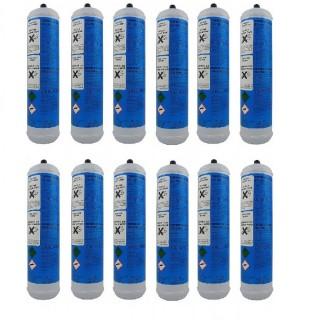 12 Bombole CO2 Usa e Getta 600gr per acqua frizzante PlanetClima