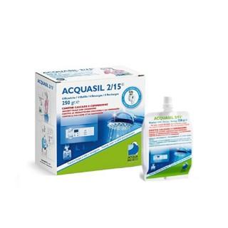 Acquabrevetti ACQUASIL 2/15 Soluzione acquosa di polifosfati / 4 ricariche da gr.250/cad PC100 Acquabrevetti