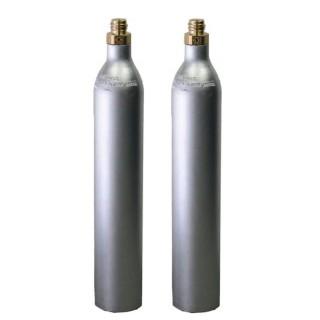 GAS UP 2 Bombole ricaricabile CO2 Acqua Frizzante da 425 gr. GAS UP con attacco ACME GAS UP