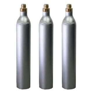 GAS UP 3 Bombole ricaricabile CO2 Acqua Frizzante da 425 gr. GAS UP con attacco ACME GAS UP