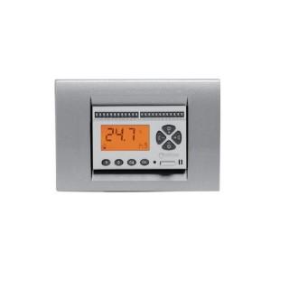 Seitron Cronotermostato Giornaliero Estate-Inverno Batterie Stilo Programmazione Digitale Bianco per Bticino Vimar Gewiss Ave...