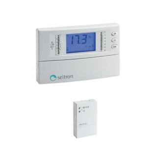 Seitron Cronotermostato Giornaliero Riscaldamento e Raffrescamento Batterie Stilo Programmazione Digitale Kit Radio 3 Seitron