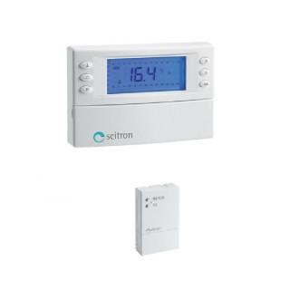 Seitron Cronotermostato Settimanale Riscaldamento e Raffrescamento Batterie Stilo Programmazione Digitale Kit Radio 4 Seitron