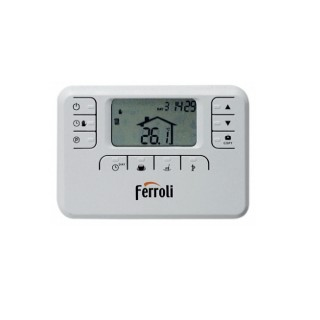 Ferroli Cronotermostato Settimanale Riscaldamento a filo 230 v Programmazione Digitale 013110XA Oscar W Ferroli