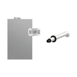 BAXI Caldaia a condensazione da esterno Murale Luna Duo-tec IN+ 24 GA Space Metano-GPL classe A/A XL Nox 6 + Scarico Coassial...