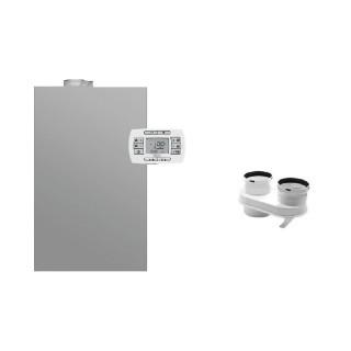 BAXI Caldaia a condensazione da esterno Murale Luna Duo-tec IN+ 28 GA Space Metano-GPL classe A/A XL Nox 6 + Scarico Sdoppiat...