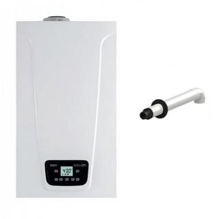 BAXI Caldaia a condensazione Murale Duo-tec Compact E 24 Metano-GPL-Propano classe A/A profilo XL Nox 6 + Scarico Coassiale Baxi
