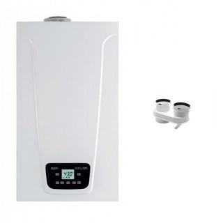 BAXI Caldaia a condensazione Murale Duo-tec Compact E 24 Metano-GPL-Propano classe A/A profilo XL Nox 6 + Scarico Sdoppiato Baxi