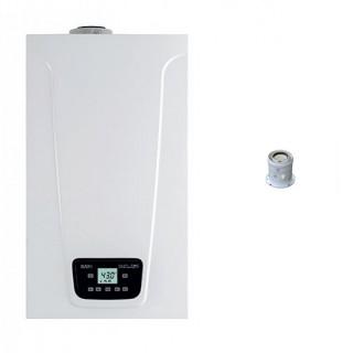 BAXI Caldaia a condensazione Murale Duo-tec Compact E 24 Metano-GPL-Propano classe A/A profilo XL Nox 6 + Partenza Verticale ...
