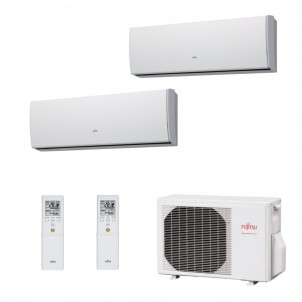 Fujitsu Condizionatore Dual Split Parete Gas R410A Serie LU 9000+9000 Btu ASYG09LUCA ASYG09LUCA AOYG14LAC2 A++/A+ 9+9