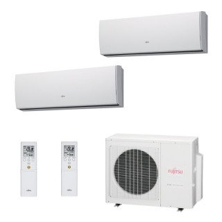 Fujitsu Condizionatore Dual Split Parete Gas R410A Serie LU 7000+15000 Btu ASYG07LUCA ASYG14LUCA AOYG18LAC2 A++/A+ Fujitsu