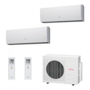 Fujitsu Condizionatore Dual Split Parete Gas R410A Serie LU 7000+15000 Btu ASYG07LUCA ASYG14LUCA AOYG18LAC2 A++/A+ 7+15