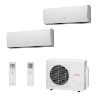 Fujitsu Condizionatore Dual Split Parete Gas R410A Serie LU 9000+12000 Btu ASYG09LUCA ASYG12LUCA AOYG18LAC2 A++/A+ Fujitsu