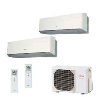 Fujitsu Condizionatore Dual Split Parete Gas R410A Serie LM 7000+9000 Btu ASYG07LMCE ASYG09LMCE AOYG14LAC2 A++/A+ Fujitsu