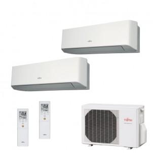 Fujitsu Condizionatore Dual Split Parete Gas R410A Serie LM 7000+9000 Btu ASYG07LMCE ASYG09LMCE AOYG14LAC2 A++/A+ 7+9