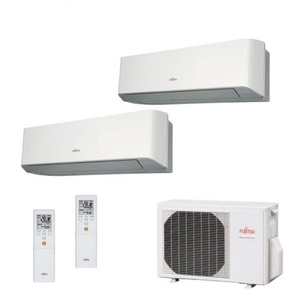 Fujitsu Condizionatore Dual Split Parete Gas R410A Serie LM 7000+12000 Btu ASYG07LMCE ASYG12LMCE AOYG14LAC2 A++/A+ Fujitsu
