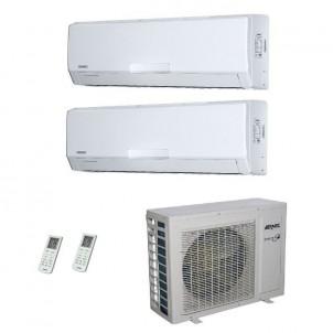 AERMEC Condizionatore Dual Split Parete Gas R-410a Serie SE-W 9000+12000 Btu SE260W SE351W MKM520 A++/A+ 9+12