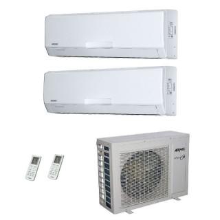 AERMEC Condizionatore Dual Split Parete Gas R-410a Serie SE-W 12000+12000 Btu SE351W SE351W MKM520 A++/A+ 12+12 Aermec