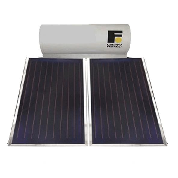 Ferroli Pannello Solare Termico 250 Litri Circolazione Naturale Modello Ecotech 250 Collettori 2 Ferroli