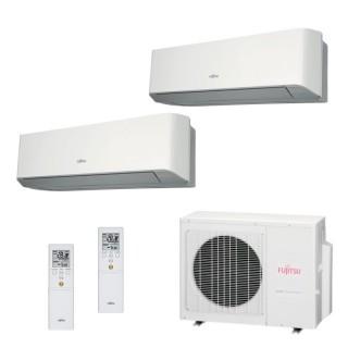 Fujitsu Condizionatore Dual Split Parete Gas R410A Serie LM 9000+12000 Btu ASYG09LMCE ASYG12LMCE AOYG18LAC2 A++/A+ Fujitsu
