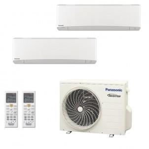 Panasonic Condizionatore Dual Split Gas R-32 Serie Z Etherea Bianco 9000+12000 Btu CU-2Z41TBE WiFi Opzionale A+++/A++