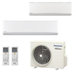 Panasonic Condizionatore Dual Split Gas R-32 Serie Z Etherea Bianco 7000+18000 Btu CU-2Z50TBE WiFi Opzionale A+++/A++