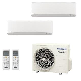 Panasonic Condizionatore Dual Split Gas R-32 Serie Z Etherea Bianco 9000+15000 Btu CU-2Z50TBE WiFi Opzionale A+++/A++ Panasonic
