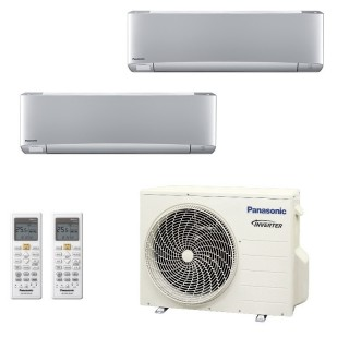 Panasonic Condizionatore Dual Split Gas R-32 Serie XZ Etherea Argento 9000+12000 Btu CU-2Z50TBE WiFi Opzionale A+++/A++ Panas...