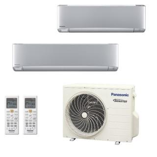 Panasonic Condizionatore Dual Split Gas R-32 Serie XZ Etherea Argento 9000+18000 Btu CU-2Z50TBE WiFi Opzionale A+++/A++ Panas...