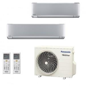 Panasonic Condizionatore Dual Split Gas R-32 Serie XZ Etherea Argento 9000+18000 Btu CU-2Z50TBE WiFi Opzionale A+++/A++